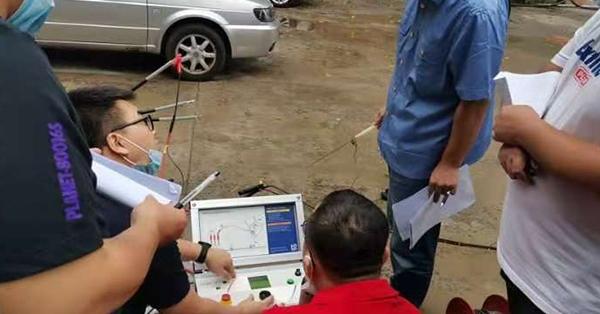 0.1赫兹电缆故障测试系统现场测试